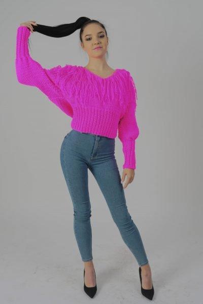 Sweter Paris Neon Pink
